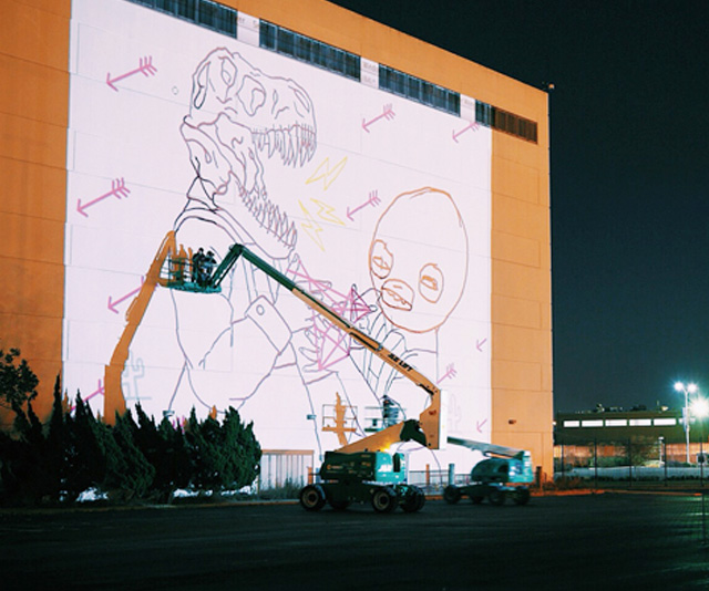 Exterior art display projection