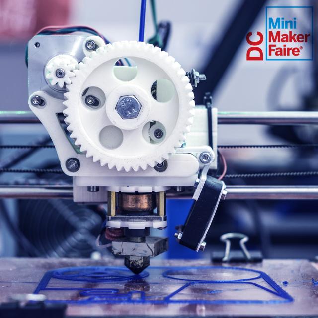 Mini 3D Printing machine at the DC Mini Maker Faire