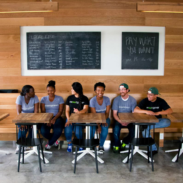 Sweetgreen team at the Yards DC