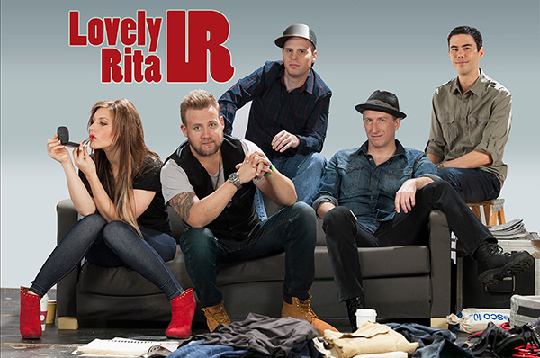 Lovely Rita band posing on a couch
