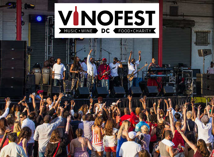 VinoFest DC music and wine festival at Union Market (here Sugar Bear and EU)
