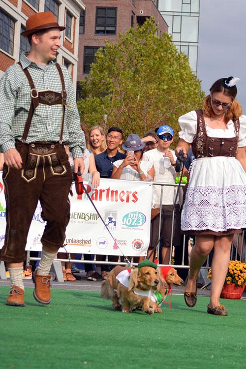 Outdoor Oktoberfest Celebration with dog events