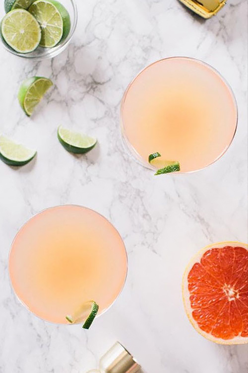 Crafted cocktails with citrus