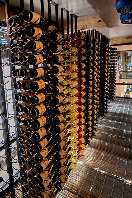District Winery's stocked wine cellar in DC