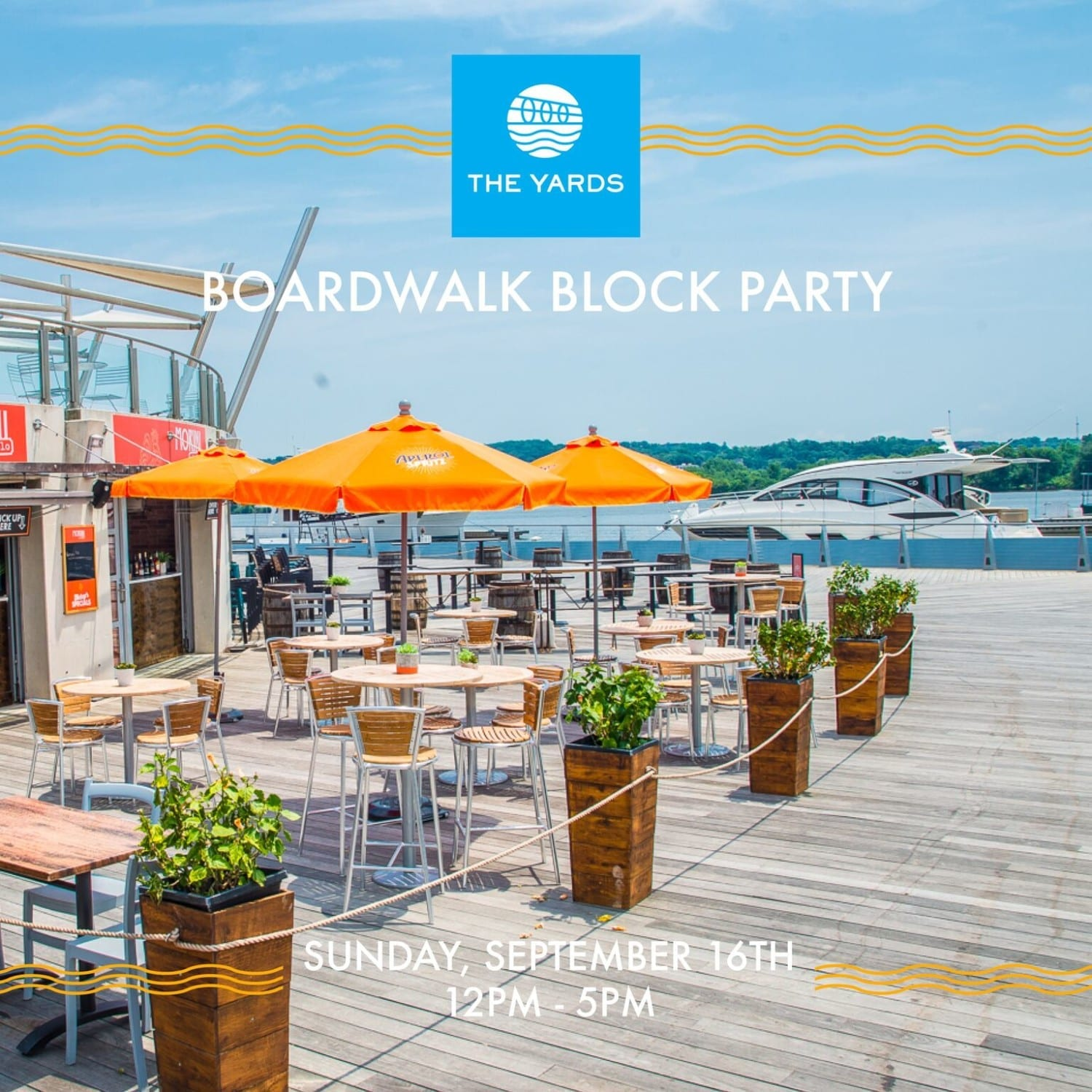 Flyer for Boardwalk Block Party