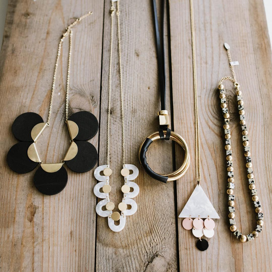 Homemade jewelry at Willow store in DC