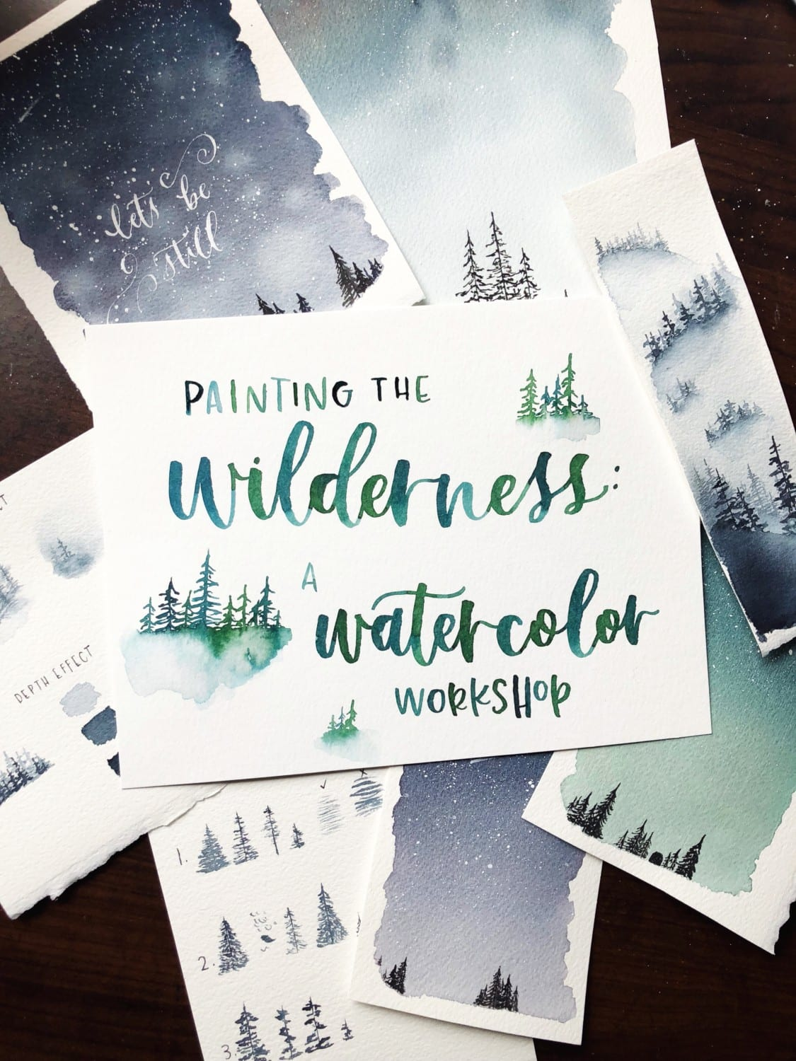 Watercolor invite to Paint the Wilderness
