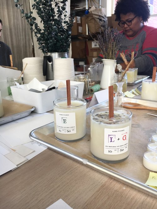 Soy Wax candle making workshop