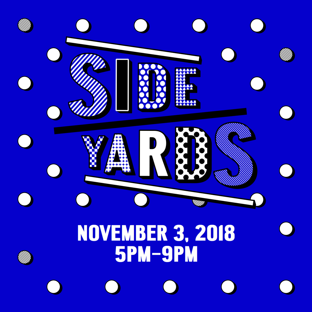 Flyer for Side Yards event
