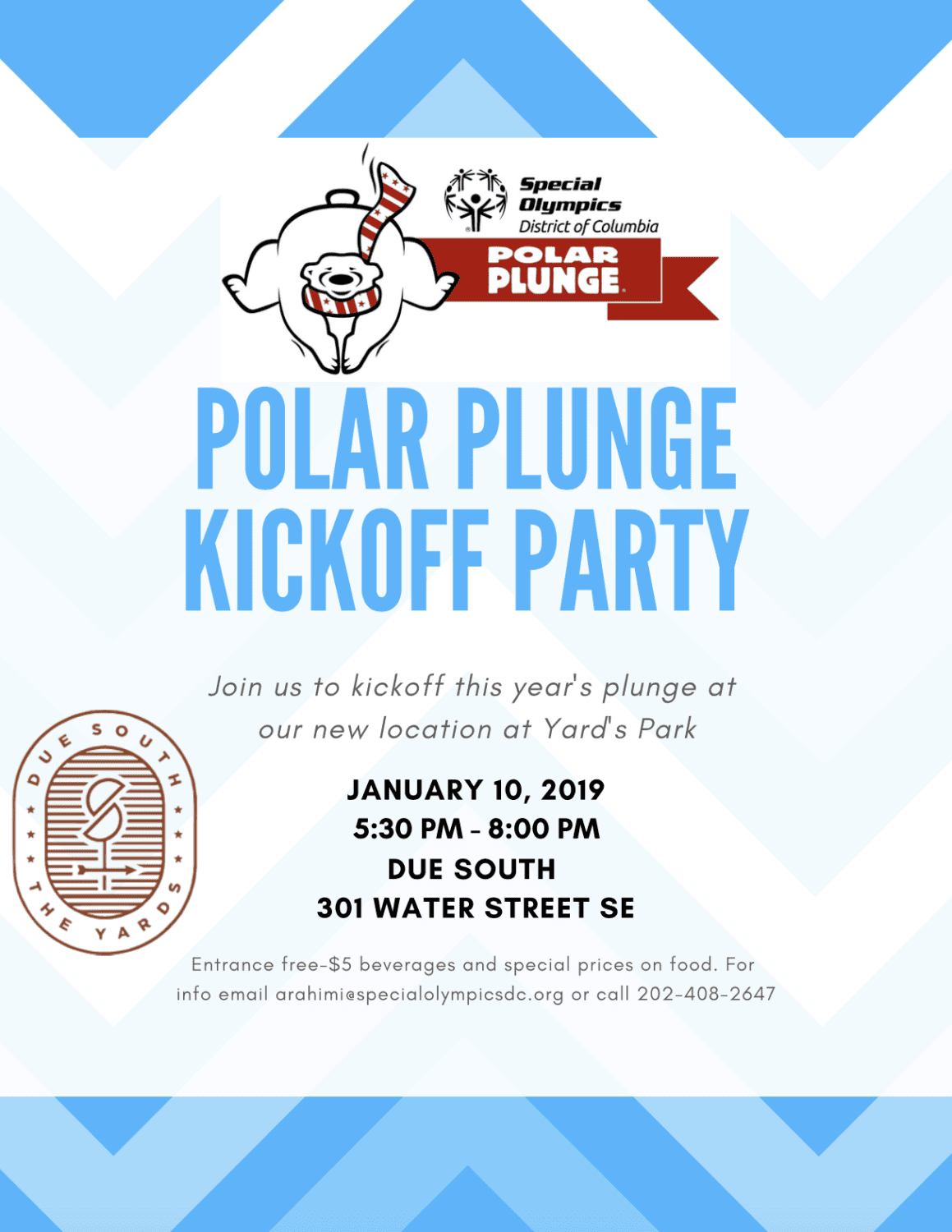 Flyer for Polar Plunge kickoff party