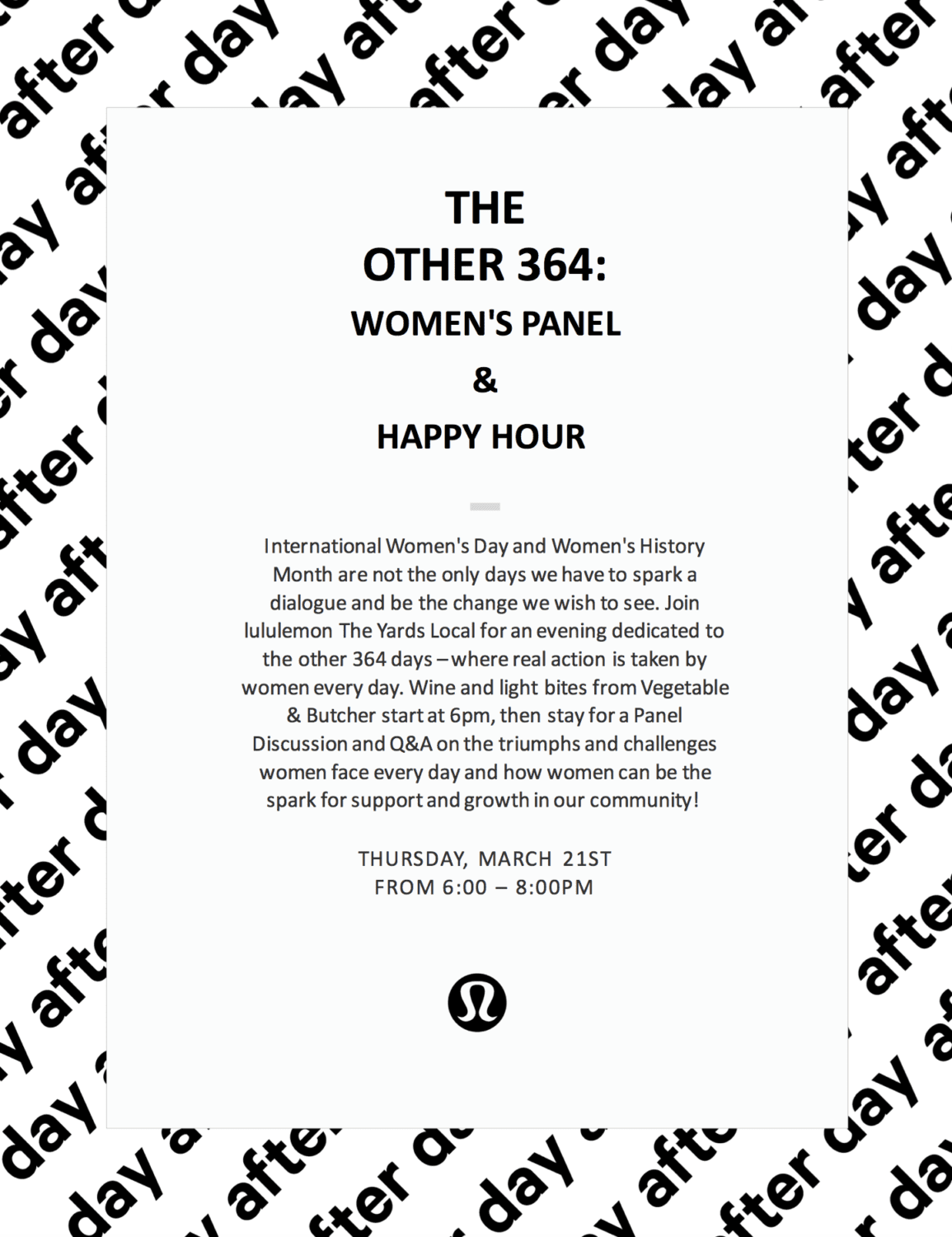 Flyer for the Other 364: Women's History event