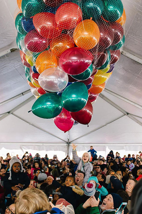 New Years Eve Day Balloon Drop at The Yards DC
