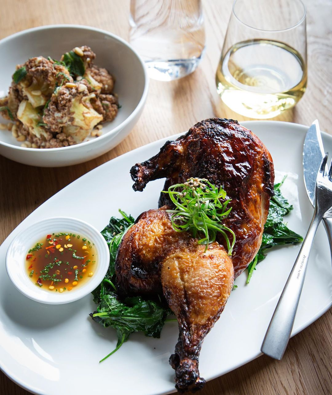 Spice-Roasted Chicken from Restaurant Chloe at The Yards DC
