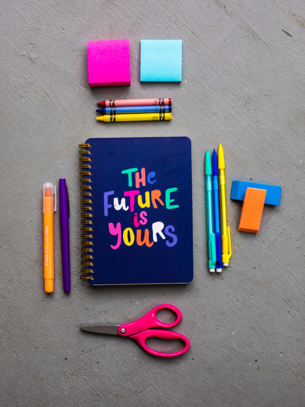 Back to the Yards | A colorful arrangement of school supplies